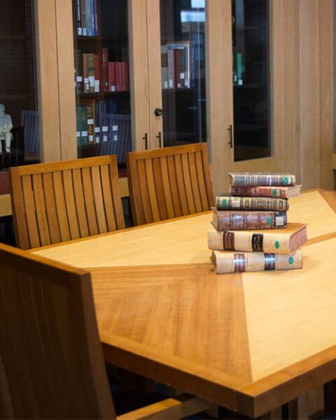 reading room table