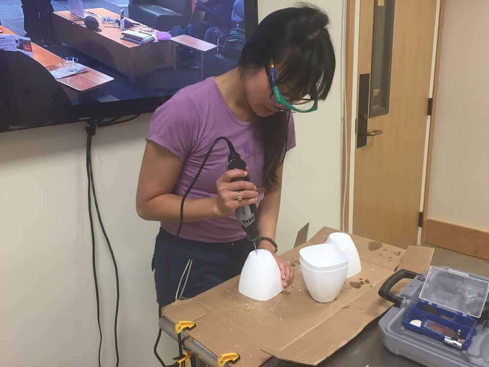 Jenny working in Makers Lab