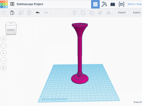 Model in tinkercad