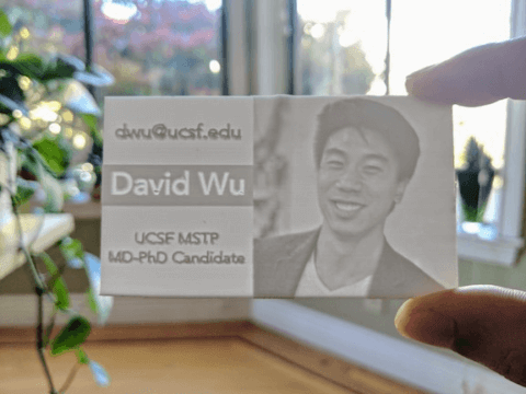 Picture of 3D printed business card