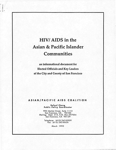 AIDS in Asian and Pacific Islander Communities