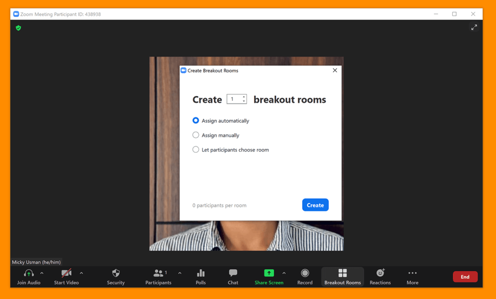 Create a breakout room