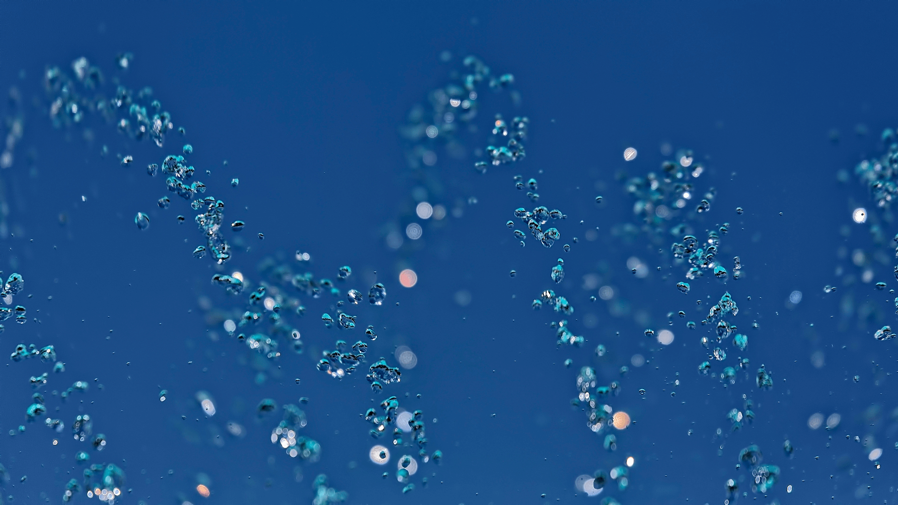 Dancing water drops