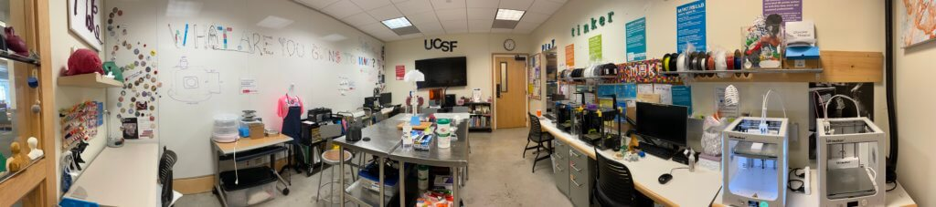 Panorama image of the Makers Lab, currently closed, in 2021