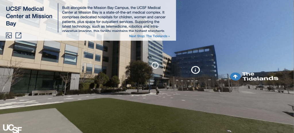 Screenshot of UCSF Mission Bay Campus Virtual Tour